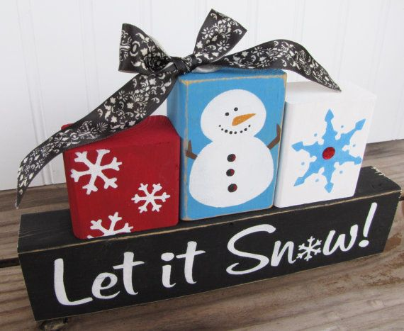I love these block craft ideas christmas pinterest for Where to buy wood blocks for crafts