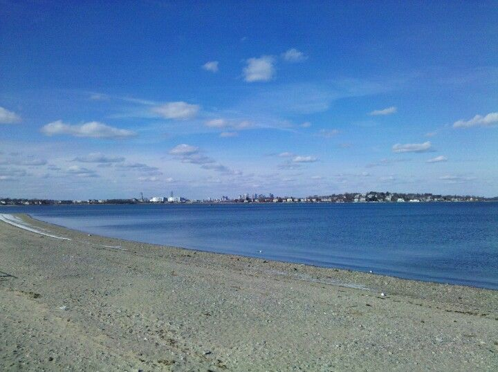 August 14, 2014: Wollaston Beach in Quincy, MA - Our starting point.