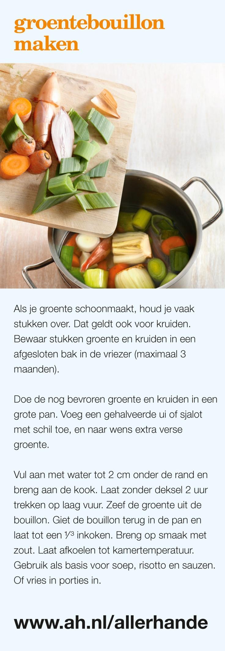 Zo maak je groentebouillon