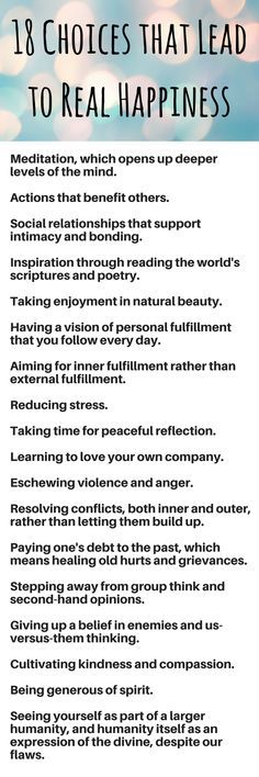 Deepak Chopra says that our choices are the most important factor that determine personal happiness. He reveals 18 choices that are the answer to how to be happy.