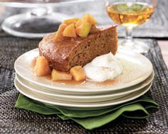 Buttery Cinnamon Cake with Apple Compote