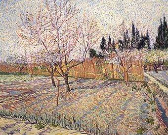 Landscape Masterworks from the Paul G. Allen Family Collection	 OCT 10, 2015 – JAN 10, 2016 Vincent van Gogh, Orchard with Peach Trees in Blossom, 1888, Oil on canvas, Paul G. Allen Family Collection.