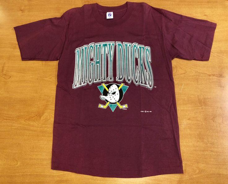 Vintage 1993 Anaheim Mighty Ducks TShirt Size Large