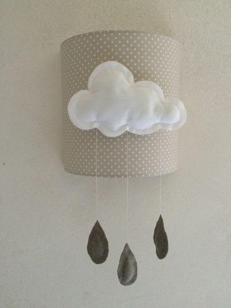 applique enfant nuage original pour decoration de chambre d 39 enfant originals appliques and d. Black Bedroom Furniture Sets. Home Design Ideas