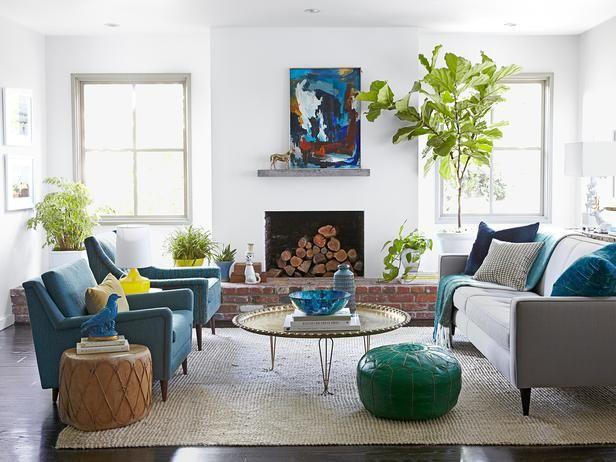 Contemporary Home Makeover Hgtv Magazine Living Room Designs