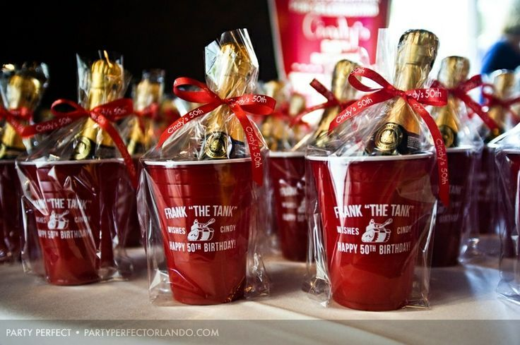 50th birthday party favors for men  Cool champagne 50th birthday ...