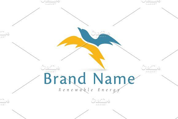 For sale. Only $29 - energy, travel, protection, fast, eagle, sky, movement, speed, power, wild, bird, wings, falcon, hawk, cover, lightning, bolt, shelter, flexibility, storm, swift, thunder, trustfulness, flying, flash, blue, yellow, abstract, renewable, delivery, electricity, logo, design, template,