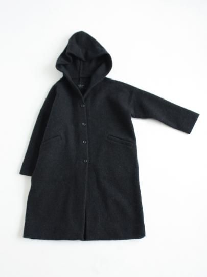 press wool hooded coat