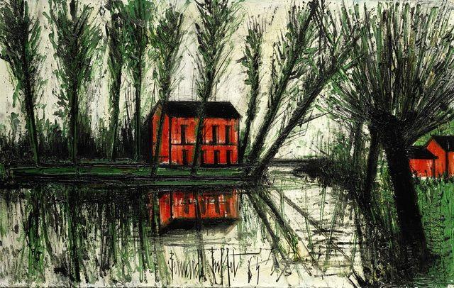 Bernard Buffet   Maison près de l'étang (1964), Available for Sale   Artsy