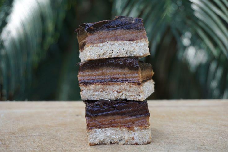 The Tasty K | Salted Caramel Chocolate Slices | http://thetastyk.com