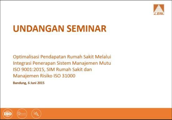 Seminar Optimalisasi Pendapatan Rumah Sakit