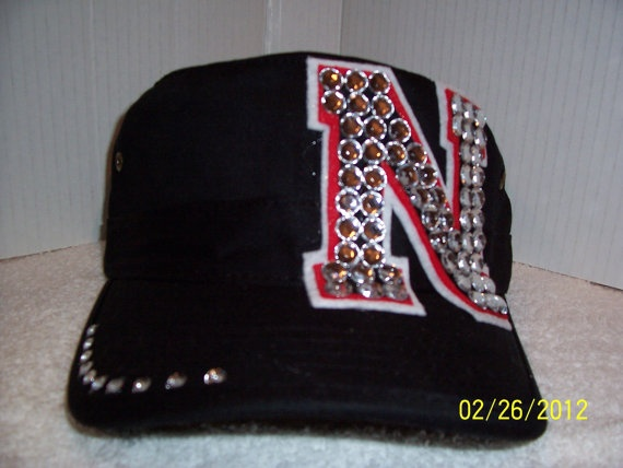 Nebraska Huskers BLING Hat  Black w/small BLING by BLINGHats, $25.00... OH EM GEEEE!!!