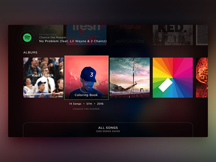 Mockup showing scrolling through content. Keeping the focus consistent, and the currently playing song visible in the header at all times.…