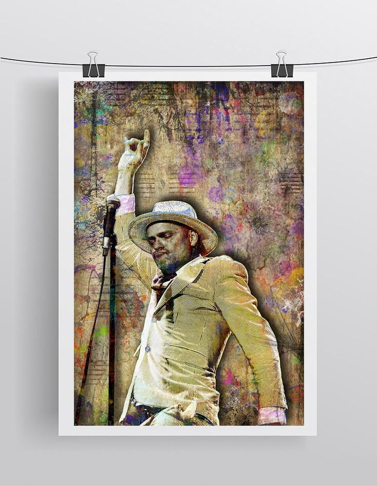 Gord Downie Poster, Gord Downie Portrait Gift, Gord Downie of the Tragically Hip Colorful Layered Tribute Fine Art