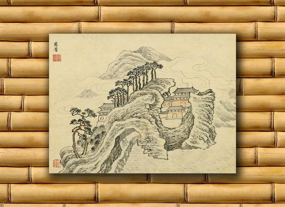 Chinese Art Asian Landscape Poster Art Print China by PrintsofAsia