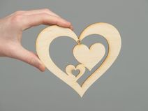 Wooden blank for painting hearts