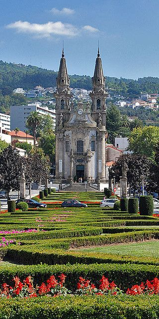 Guimaraes - Portugal. I tried so hard to take a picture of this church that would be this awesome! Of course I found it on Pinterest!