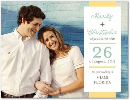Save the Date: Ideas, Save The Date, Postcards, Dates, Wedding, Beachy Band, Products, Mustard Yellow