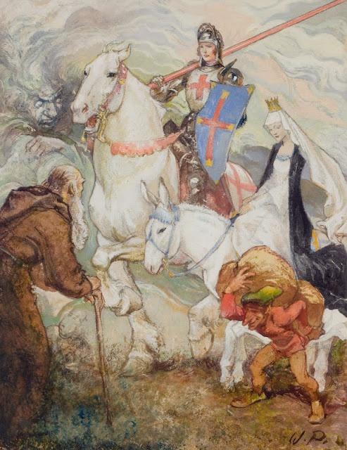 Underpaintings -'King Arthur' Willy Pogany