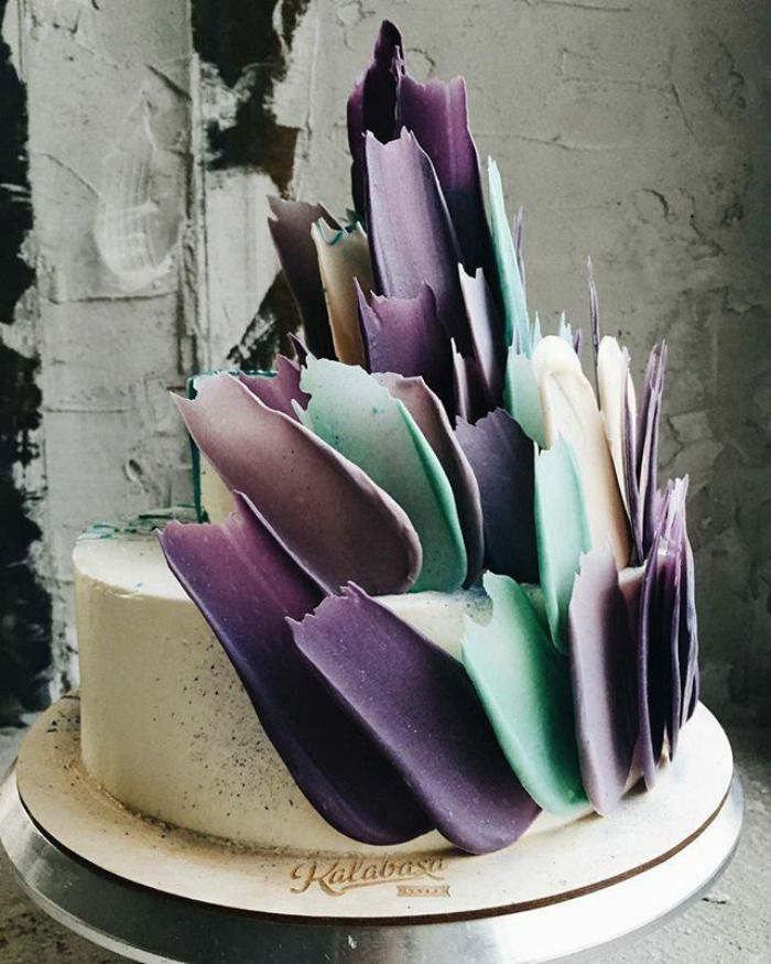 Best Brush Stroke Cake Images On Pinterest Cakes Desserts - Russian bakery uses brushstroke decorations to create the most amazing cakes