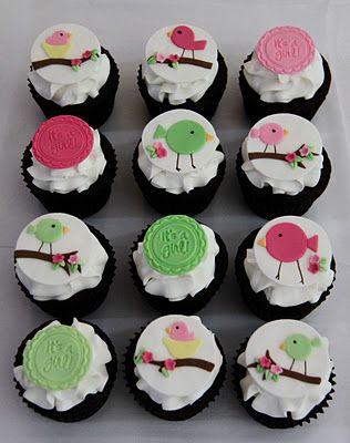 Birdie Baby Shower Cupcakes