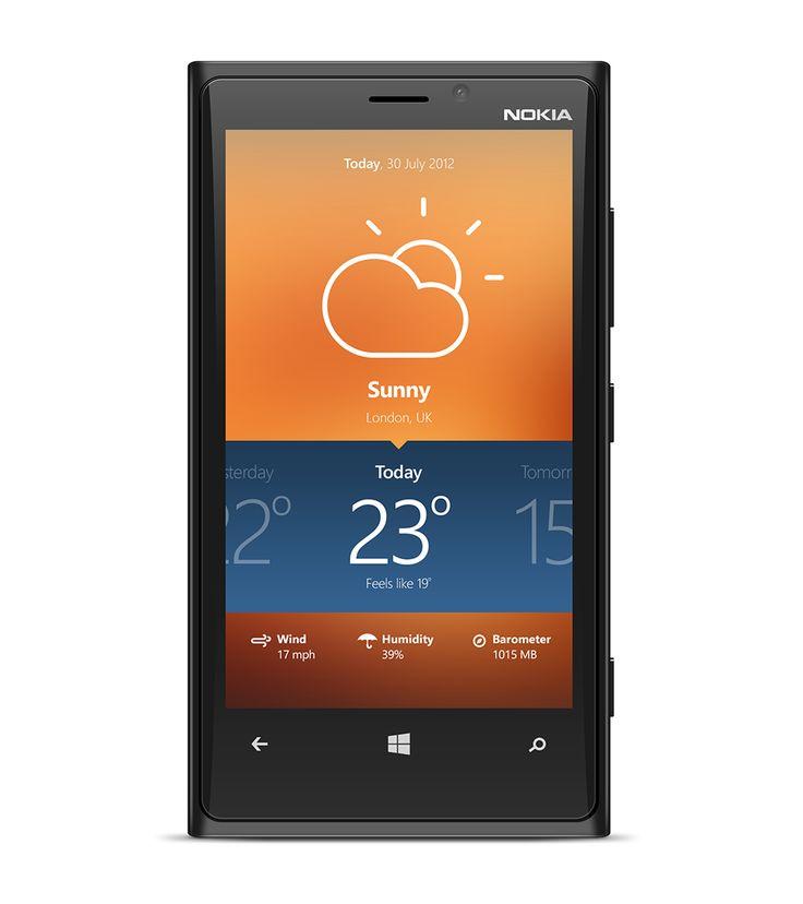 Modern Windows Phone 8 weather app concept. by Dorin Vancea