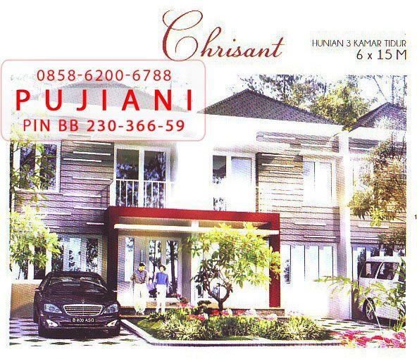 Dijual rumah ukuran 15 x 6 meter di Galaxy City Bekasi Tipe Chrisant