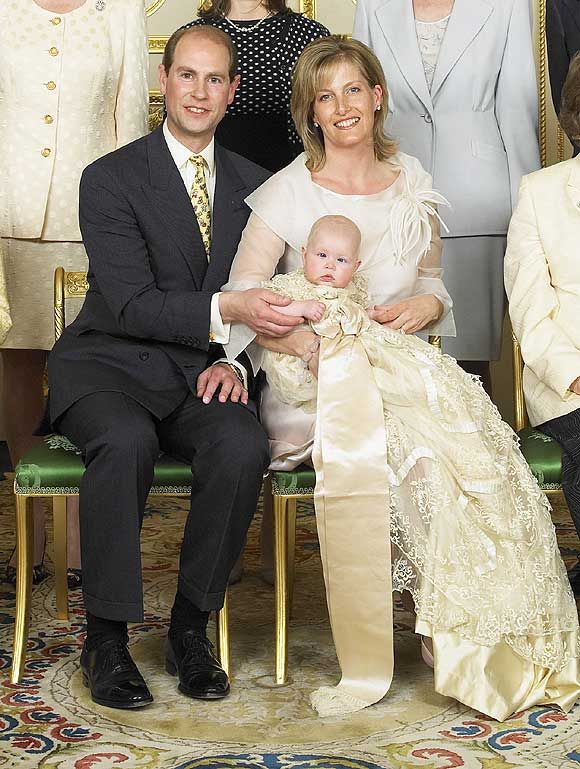 Prince Edward, Earl of Wessex, and his wife Sophie, Countess of Wessex and their daughter Lady Louise