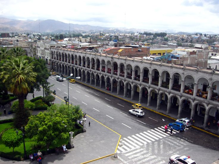 Plaza central de Arequipa.
