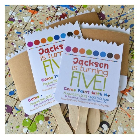 25 best ideas about Art party invitations – Invitations for Parties