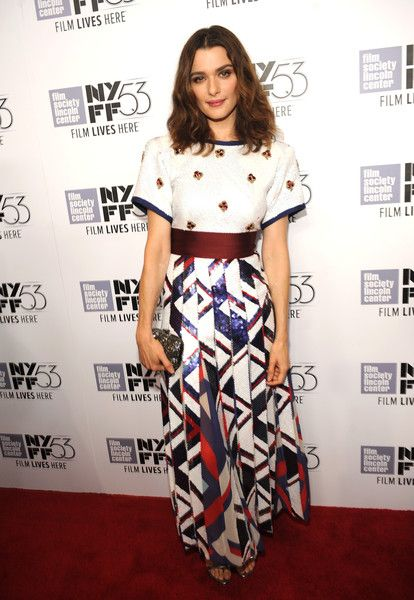 "Rachel Weisz in Marc Jacobs Spring 2016 attends the 53rd New York Film Festival - ""The Martian"" Premiere Red Carpet on September 27, 2015"