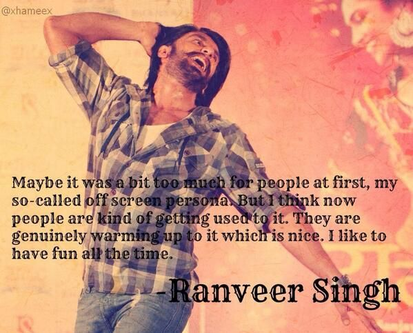 It's high time that realized what a gem you are superman!  @RanveerOfficial 's quote.