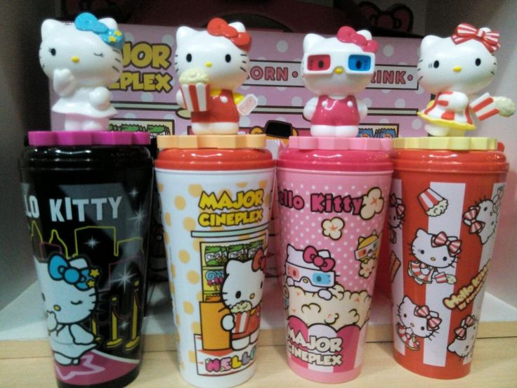 Set of#4 Hello Kitty Sanrio Popcorn Bucket CupTopper Limited Best for Collection  | eBay