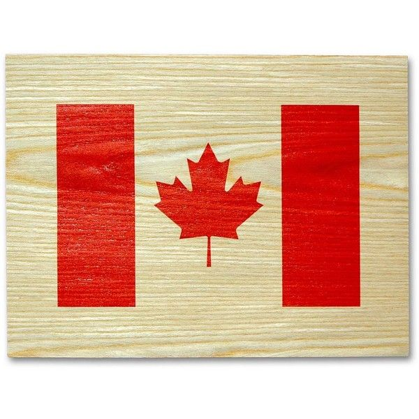 Canadian Flag Wall Art ($9.99) ❤ Liked On Polyvore Featuring Home, Home  Decor