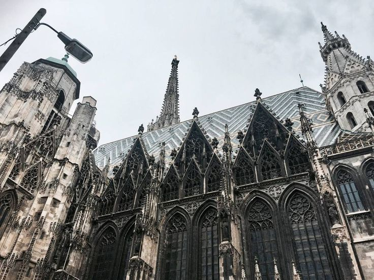 """161 Likes, 3 Comments - Gabriella Buzas (@epicstreetstyle) on Instagram: """"Danced a waltz here in the street. Seriously 🎵😅 . ."""" St. Stephen's Cathedral Vienna Austria city historic architecture gothic mytinyatlas"""