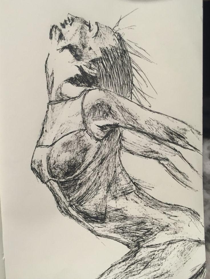 Enjoying movement doodle