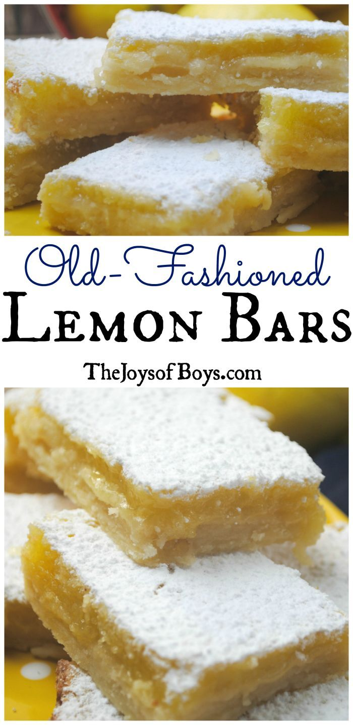Old-Fashioned Lemon Bars - I'm going to use almond flour and stevia