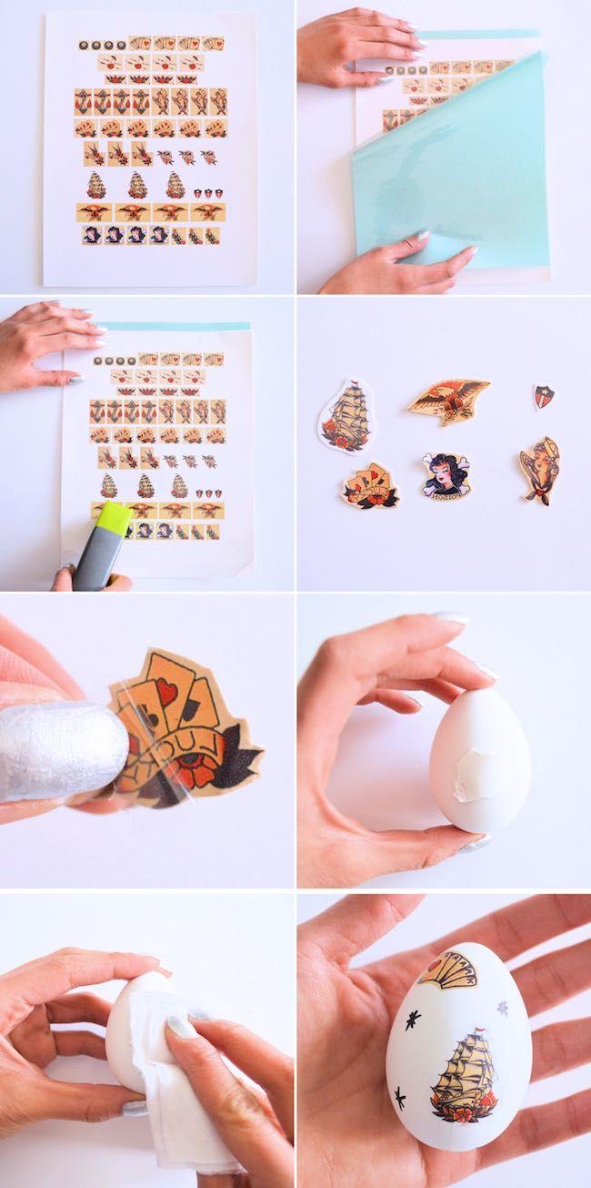 Cómo hacer unos huevos de Pascua fáciles personalizados con pegatinas  #diy #handmade