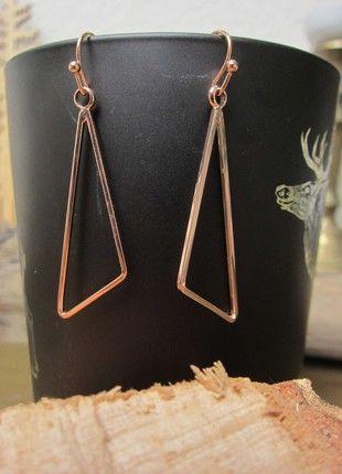Kaufe meinen Artikel bei #Kleiderkreisel http://www.kleiderkreisel.de/accessoires/ohrringe/140801185-ohrhanger-geometrisch-in-rosegold-nickelfrei
