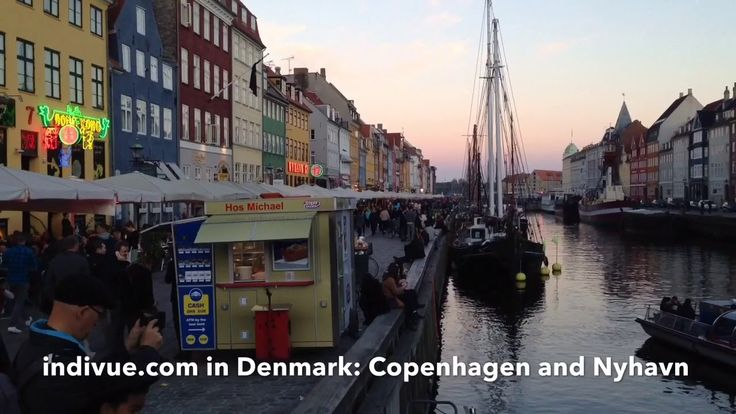 On the road in Copenhagen, Denmark, with beautiful aftersunset colours of Nyhavn - YouTube