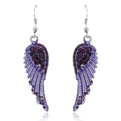 Ever Faith Austrian Crystal Angel Wing Hoop Earrings Purple Silver-Tone N01064-5 Ever Faith http://www.amazon.co.uk/dp/B00J7LGD0E/ref=cm_sw_r_pi_dp_spCUvb1TSZ16R