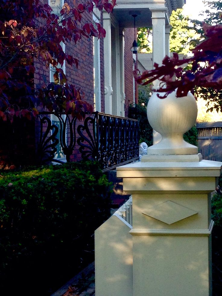 Rickinmar — Salem. side garden. with a greek revival cast iron...
