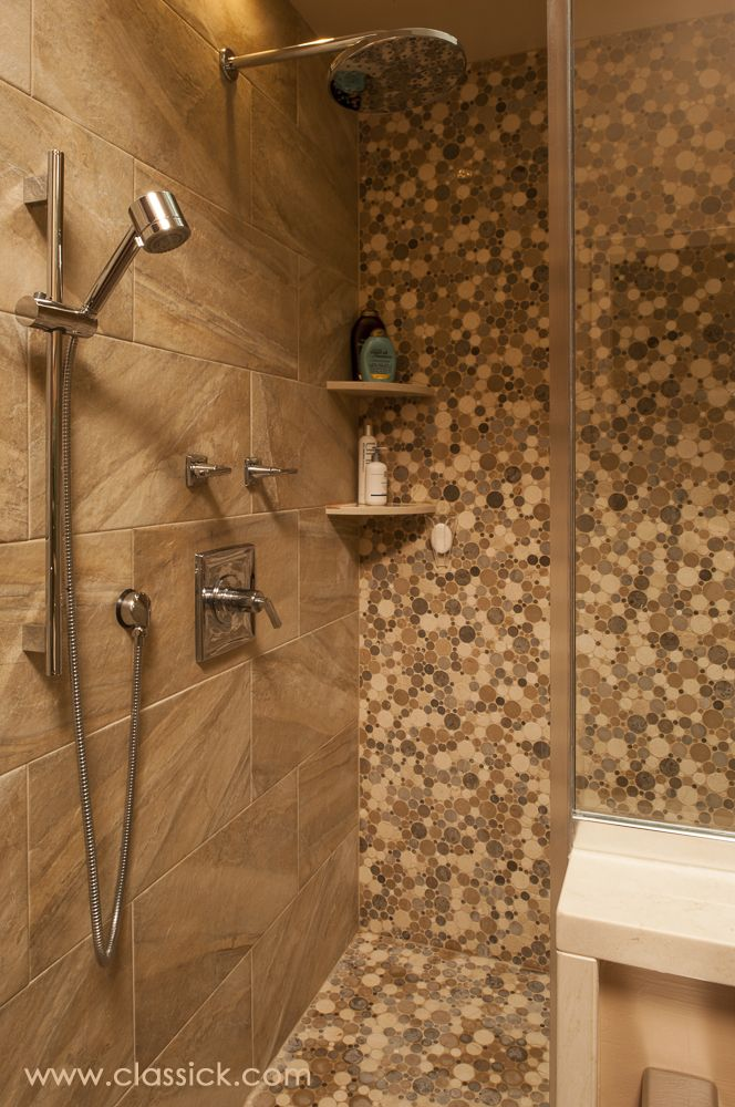 Shower Floor Tiles Which Why And How: Shower Wall Tile 12x24 Earth Tone Porcelain With Built In
