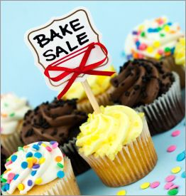 Bake Sales - Recipes, Packages, Printables & Tips--> Different ideas for Bake Sales