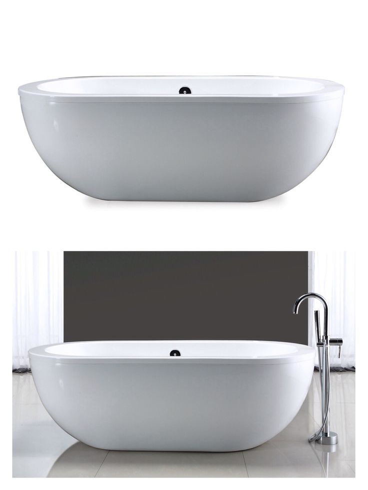 The one! Ove Decors Gloss White Acrylic Oval Freestanding Bathtub with Center Drain (Common: 34-in x 71-in; Actual: 23-in x 34-in x 71-in)...$999