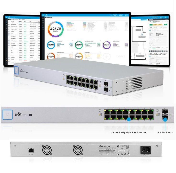 Ubiquiti US-16-150W UniFi Network Switch 16 Gigabit Ethernet ports, 150W PoE New #UbiquitiNetworks