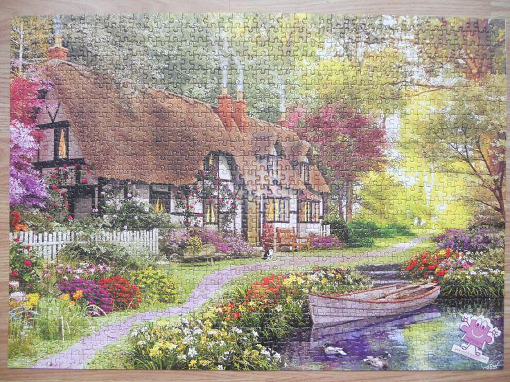 """""""KS Games Woodland Walk Cottage 1000 parça puzzle"""" Hazır yapılmış ve yapıştırılmış çerçeveye hazır puzzle Aynı gün kargo!  Satın almak ve fiyat bilgisi için ürün görseli üzerine tıklayın lütfen..!!"""