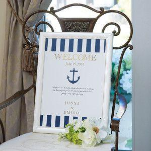 夏の結婚式で使いたい爽やかなマリン風ボード♡モダンな結婚式におすすめしたいネイビーのウェルカムボードまとめ一覧♪