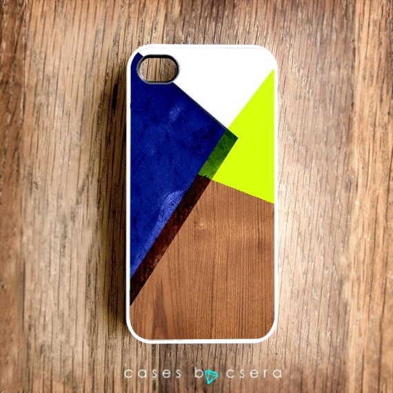 Unique iPhone Case Wood iPhone 4 Case Neon iPhone by casesbycsera, $15.99 design