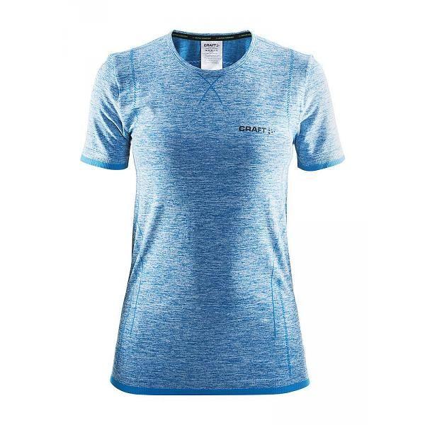 Thermoshirt Active Comfort RN korte mouw blauw dames